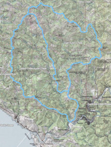 Austin Creek topo map