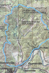 Fife Creek topo map