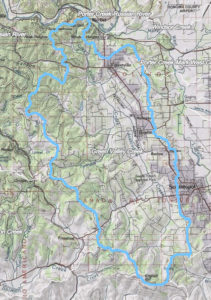 Green Valley Creek topo map
